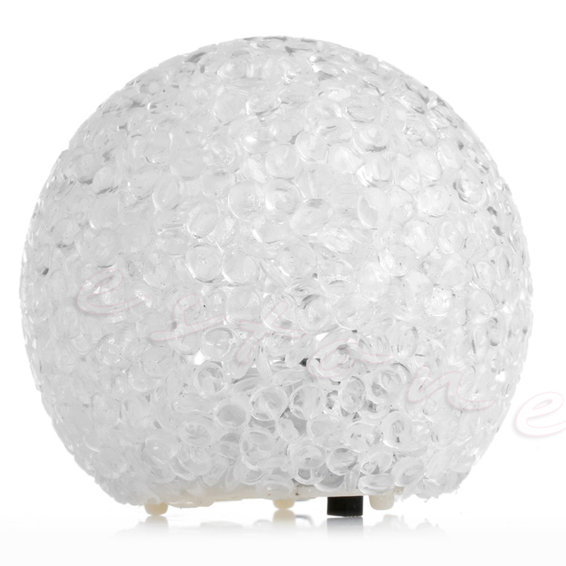 LED 7 Colors Changing Night Light Crystal Mood Ball Shaped Light Lamp Room Decor