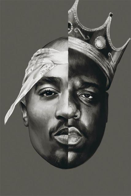 Custom Canvas Wall Decoration B I G And Tupac Poster 2pac Stickers Office Mural Painting Bedroom Wallpaper