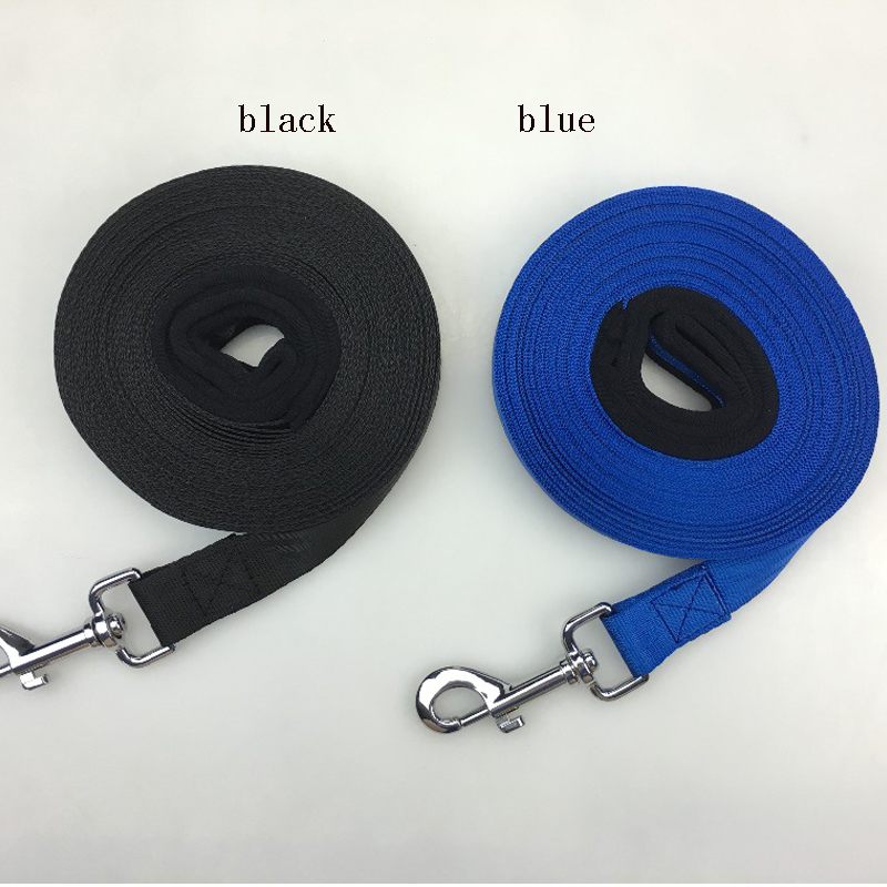 Pet Lead Leash for Dogs blue black Nylon 20 meters 10 meters training dog leash Walk Dog Leash Selectable Size Outdoor Security