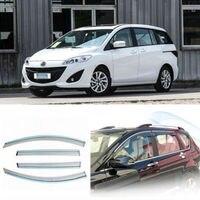 4pcs New Smoked Clear Window Vent Shade Visor Wind Deflectors For Mazda 5 08 13
