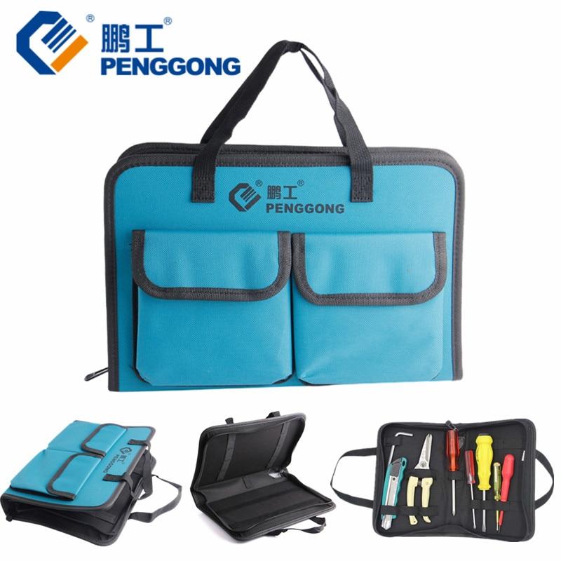 PENGGONG Tool Bag 310*210*50mm Waterproof Electrician Tool Bag Oxford Canvas Handbag Organizer Tools electrician tool bag tool bag electrician tools - title=