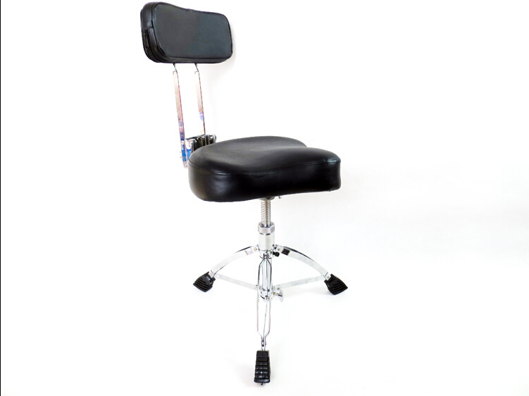 Top Quality Folding Padded Music Leather Saddle Backrest Drum Stool Rock Band Piano Percussion Free Gu13