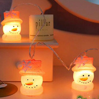 Christmas Lights String Cute Baby Snowman Battery Lights Room Holiday Lights Outdoor Small Lights Festival Decoration Supplies|Lighting Strings| |  -