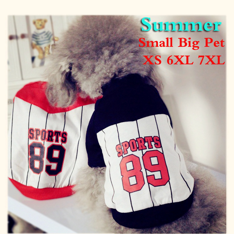 Sport Big Dog Clothes Summer Medium Large Costume Animal Pet Cat Sweatshirt Shirt Coat For Husky Retriever Bulldogs Goods