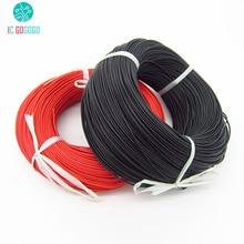 2 m 16awg fil de Silicone 3239 # USA Standard 1.5 carré 3kv haute tension haute température résistant à la chaleur doux 2 mètres Gel de silice câble