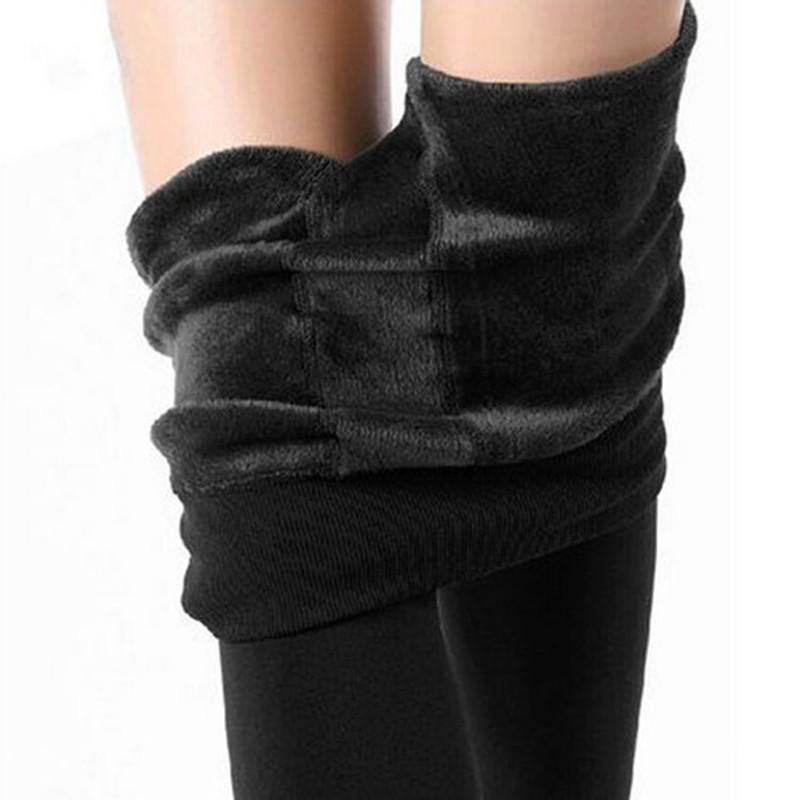NORMOV Women's Winter Plus Cashmere Leggings Fashion Big Size Warm Super Elastic Faux Velvet Winter Thick Slim Leggings 1