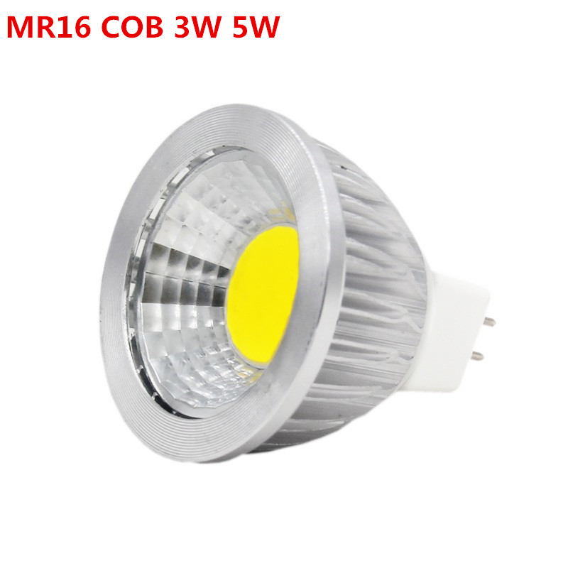 Led Spotlight MR16 COB 3w 5w 12v Replace 30w 50w Led Bulb halogen Light Lamp square