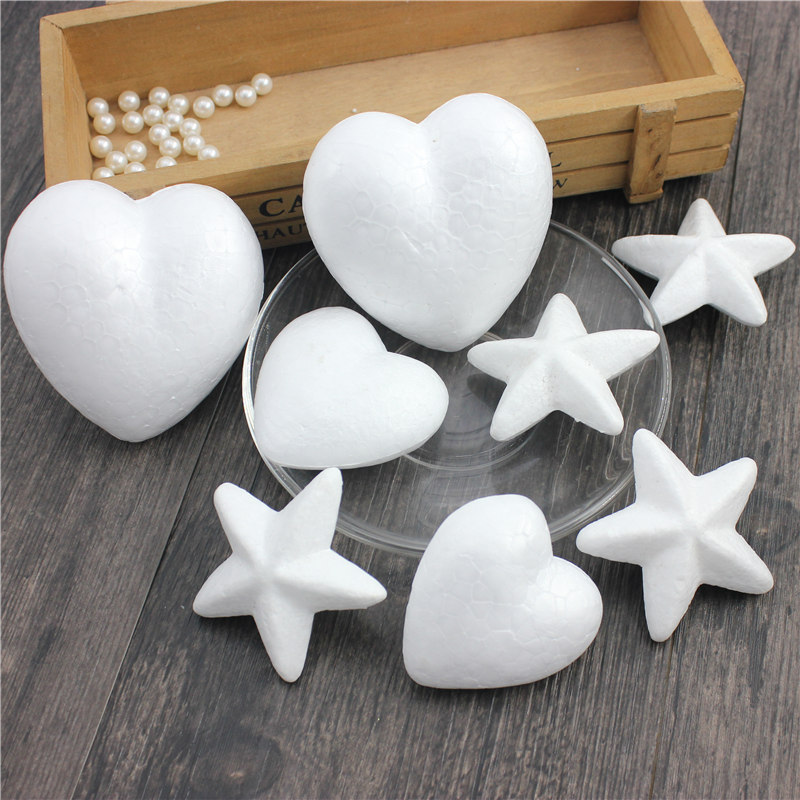3pcs Polystyrene Styrofoam Foam Ball White Craft Stars For DIY Christmas Party Decoration Supplies Gifts