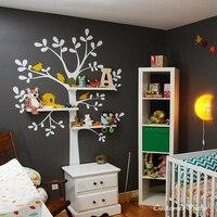 2014 New Vinyl Wall Decals Nursery The Original Shelving Tree Wall Decal Nursery Decor Wallpaper Wall
