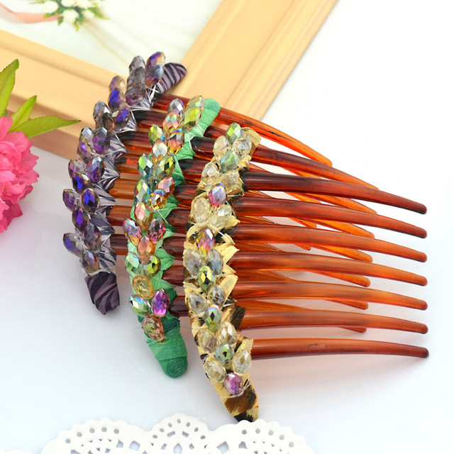 Accessories gentlewomen fashion comb hair accessory hair accessory mother day gift crystal vintage hair maker