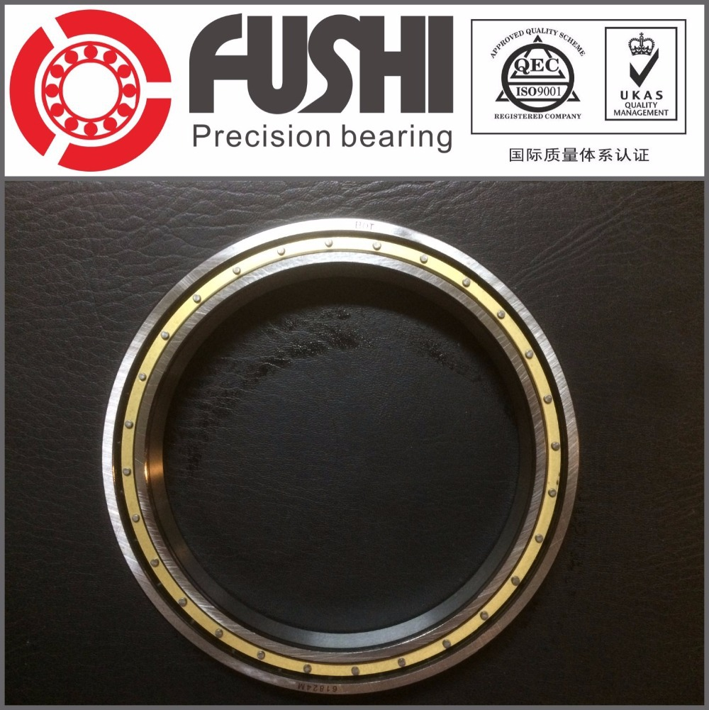 6828M  ABEC-1 140x175x18MM Metric Thin Section Bearings 61828M brass cage 1pcs 71822 71822cd p4 7822 110x140x16 mochu thin walled miniature angular contact bearings speed spindle bearings cnc abec 7