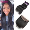 Brazilian Virgin Hair Straight 3 Bundles Lace Frontal Closure With Bundles Straight Brazilian Straight Hair Bundles With Closure