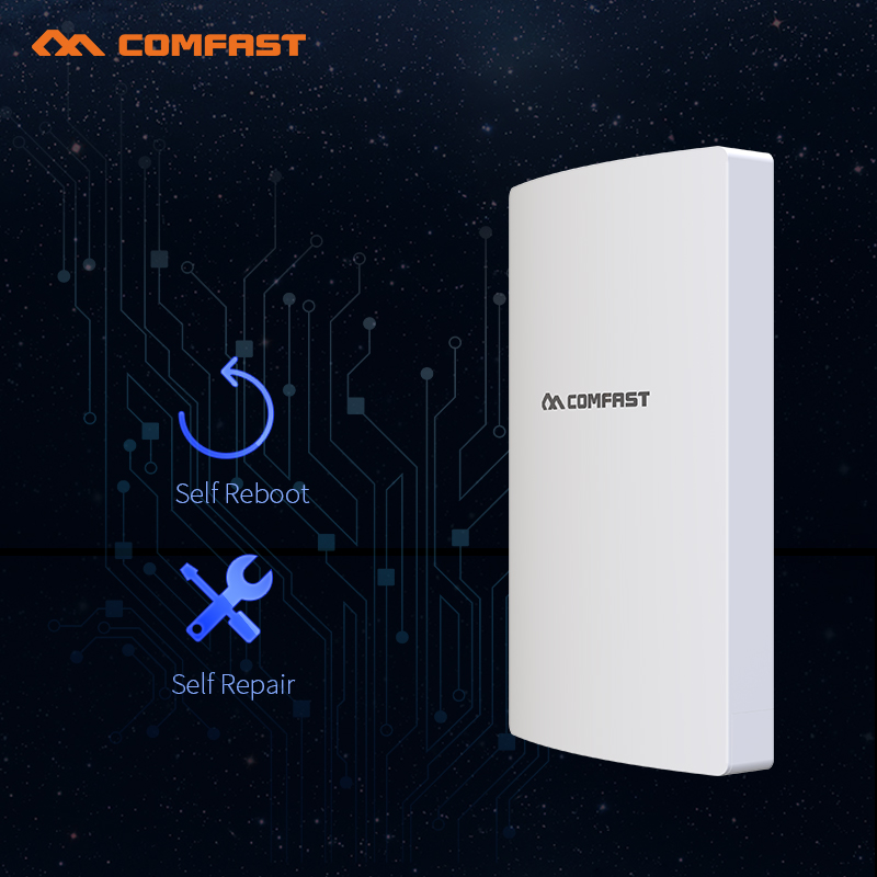 COMFAST 300Mbps high power 27dBm outdoor wifi wide coverage AP router 2.4Ghz WIfi access point AP antenna Bridge for park/school 300mbps in wall wifi access point 2 4g wireless ap router