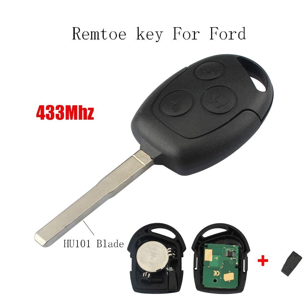 2 stücke * 433 mhz Remote key Transponder 4D63 Chip Für Ford Focus Fiesta Fusion C-Max Für Ford mondeo Galaxy C-Max S-Max Original schlüssel