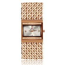 Mujeres de Lujo Reloj de Oro Marca SOXY Relojes Mujer Relojes de Vestir de Cuarzo de acero inoxidable elegante Femenino de calidad Superior de pulsera