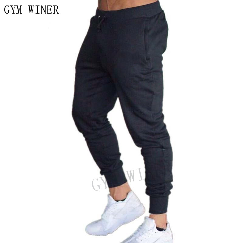 2019 GYMS New Men Joggers Brand Male Trousers Casual Pants Sweatpants Jogger grey Casual Elastic cotton Fitness Workout pan 30