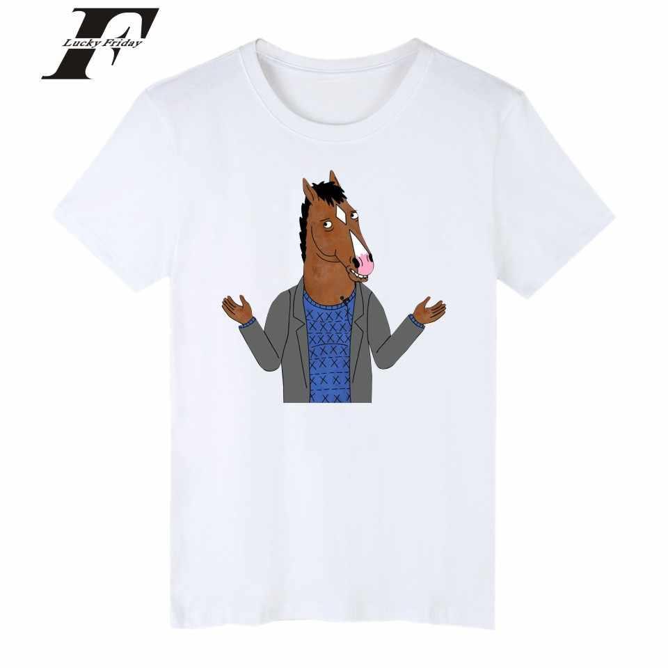c66af07f 2017 funny T Shirts BoJack Horseman fitness t shirt Men cartoon casual T- shirt Simple