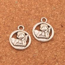 Baby Angel Of Caring Charm Beads 16.5x13.1mm 45PCS Antique Silver Pendants Jewelry DIY L125