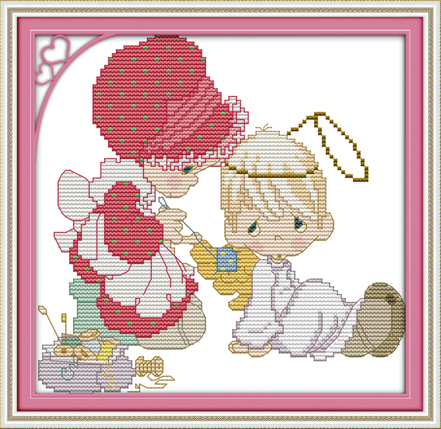 Freude Sonntag cartoon stil Nähen und reparieren freies gezählt kreuzstich weihnachtsstrumpf muster für baby geschenke in Freude Sonntag ...