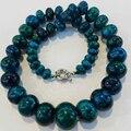 """Ожерелье 10 - 20 мм хризоколла счеты rondelle бусины мода diy подвески 17 """" GE1050"""