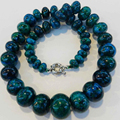 """10-20mm chrysocolla abacus rondelle Beads Fashion diy charms Necklace 17"""" GE1050"""