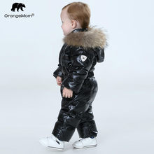 Orangemom official store baby winter jumpsuit , warm outerwear & coats jacket for girls , baby clothing boys parka snow wear(China)