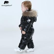 Orangemom/Официальный магазин, детский зимний комбинезон Теплая Верхняя одежда и пальто, куртка для девочек одежда для малышей парка для мальчиков зимняя одежда