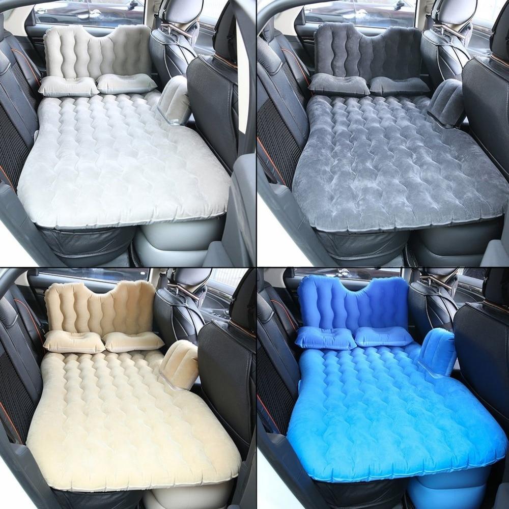 Car Air Mattress Travel Bed Inflatable Back Seat Cover Sofa Cushion