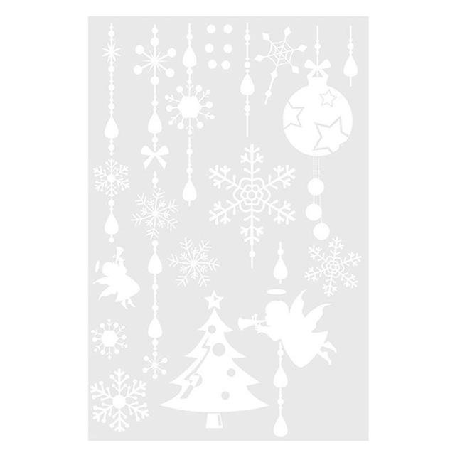 Christmas Trees Snowflakes Removable PVC Wall Window Door Sticker for Home Retail Store Coffee House Supermarket Dress