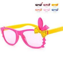 5e52751391f Kids Plastic Sunglasses Children Girls Bownot Cartoon Cat Shades Eyeglasses  Oculos De Sol crianca baby children