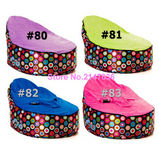 Discojelly balls with multi color tops baby bean bag chair - 2 upper covers kids beanbag toddlers seat - waterproof - cover only domestic beige baby seat and sofa with 2 top covers nice quality baby infant bean bag cheap sale