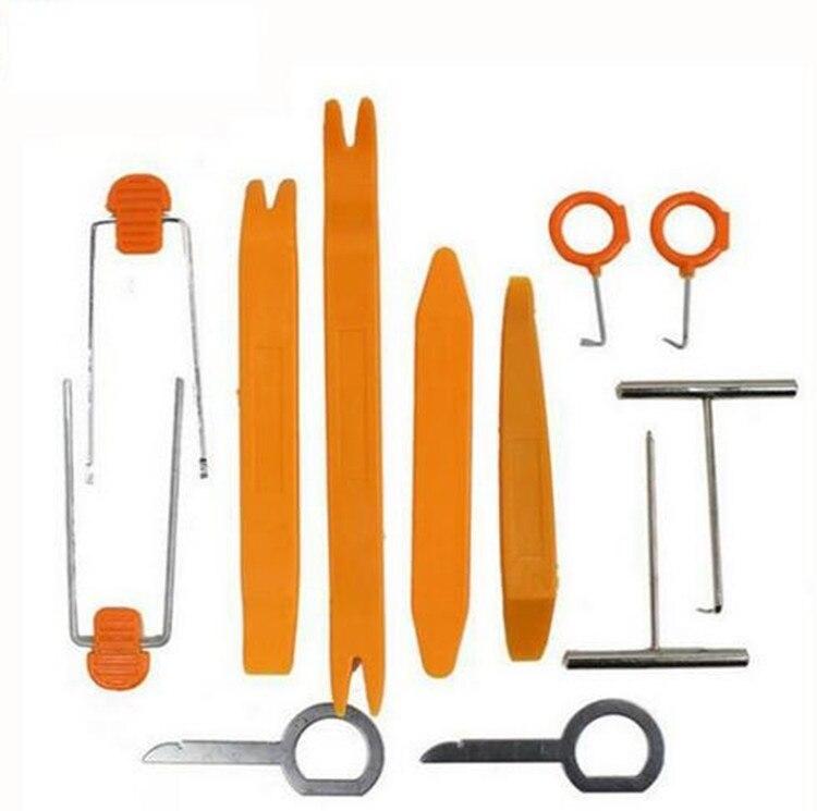 12 pezzi / set di plastica per autoradio pannello porta clip trim - Set di attrezzi - Fotografia 2