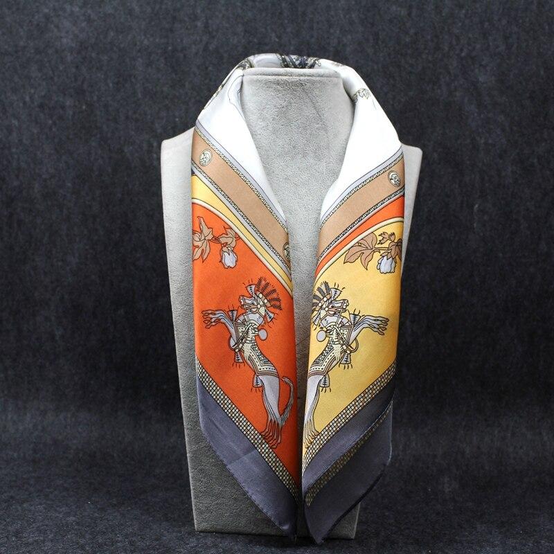 e8fc8864 Bufanda de seda 100% bufandas cuadradas de mariposa con estampado Floral de  pañuelo Beige para ...