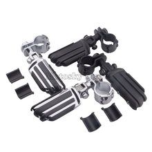 1/4 25-35mm Motorcycle Adjustable Highway Crash Bar Foot Pegs Mount Foot Rest Pedal Clamps Engine Guard Mounts Kit For Harley v drum rack clamp arm bar joint mounts t clamps 1 5 38mm for roland td