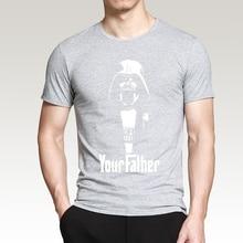 Star Wars Yoda/Darth Vader T-shirt 2017 Summer Casual Cartoon Men T Shirt Short Sleeve O-Neck 100% Cotton Camiseta Masculino