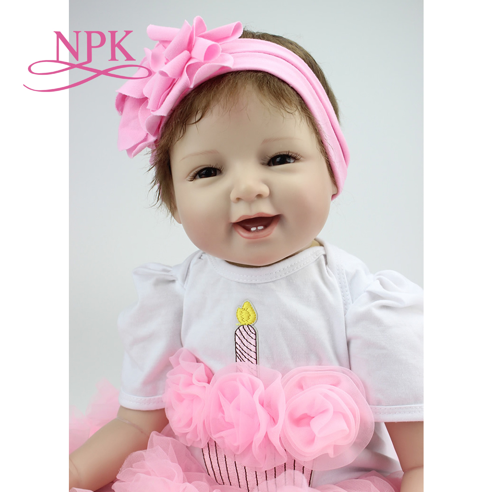 NPK hot sale lifelike reborn baby doll silicone wholesale baby dolls fashion doll Christmas gift new year gift цена