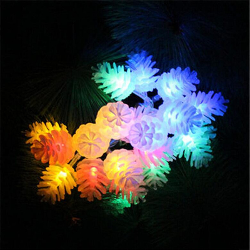 Luz Conduzida da Corda pinha guirlandas de modelagem para Cor : Multi-colorido, branco
