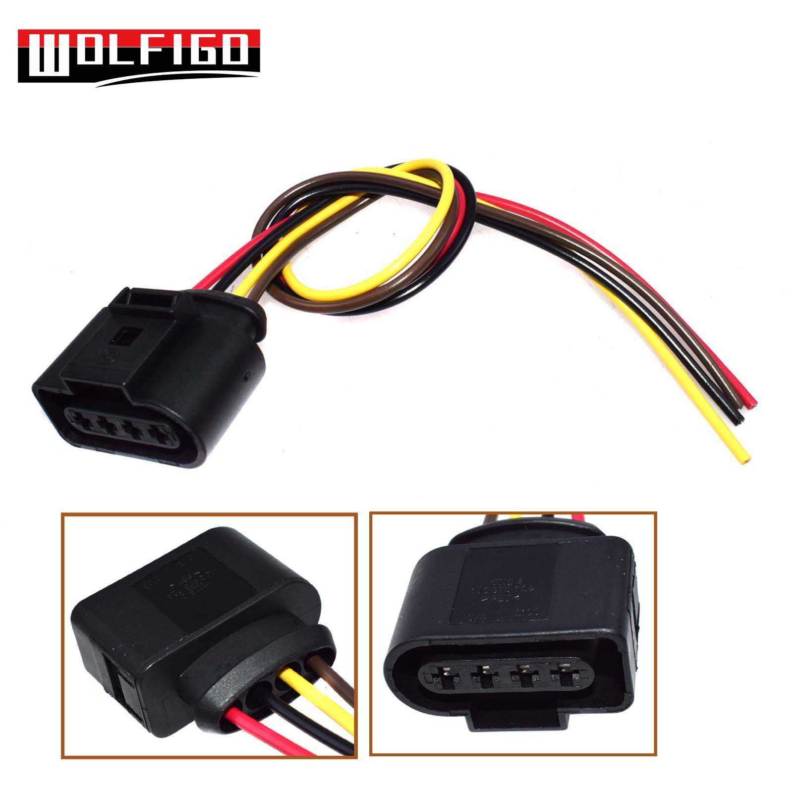 WOLFIGO New Ignition Coil Connector Repair Kit Harness Plug Wiring For AUDI  /VW /SKODA SEAT /FORD 1J0973724,8K0973724
