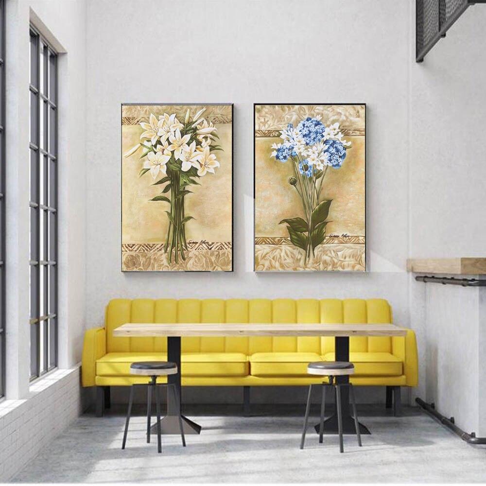 Hot Price A6c4 Peinture à L Huile Fleur Moderne