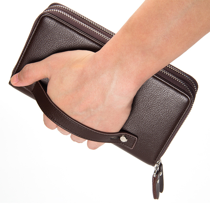 цена на Luxury Genuine Leather Men's Wallets Multifunction Long Men Wallet Clutch Male Coin Purse Money Bags Card Holder TF013