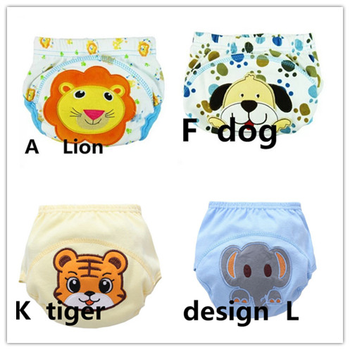 4 Pcs/lot Baby Diapers Children Reusable Underpants Breathable Diaper Cover Cotton Training Pants 13-16kg