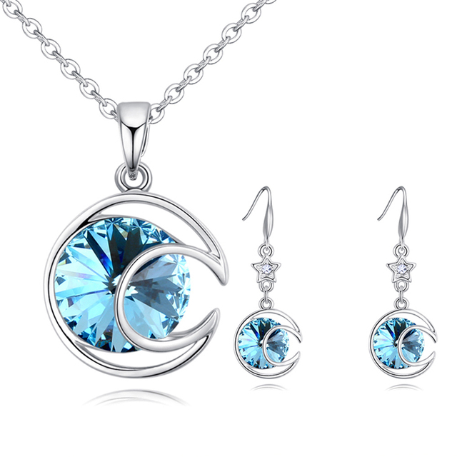 Jewelry 2018 >> 2018 New Arrival Classic Round Necklace Earrings Jewelry Set With