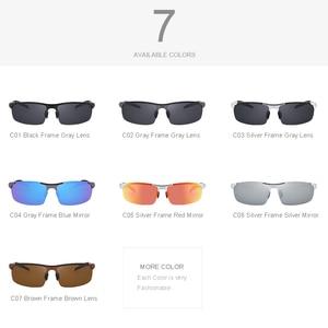 Image 5 - MERRYS Men Polarized Sunglasses Aviation Aluminum Magnesium Sun Glasses For Driving Fishing Rectangle Rimless Shades S8277