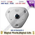 DS-2CD6362F-I Full HD 6MP IR 15M 360 Degree View Angle  Fisheye  IP Camera Smart  CCTV Camera Built-in Mic & speaker mini camera