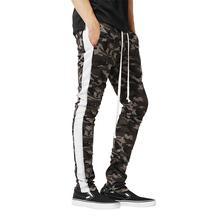 M XXXL Plus Size Men s Slim Sports Pants Camouflage Print Color Matching Zipper Casual Sweatpants