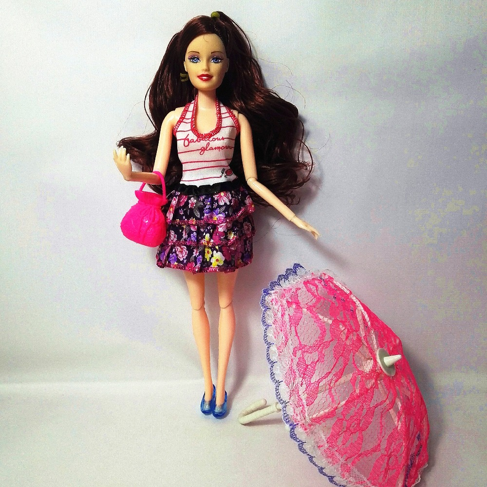 Best Barbie Dolls And Toys : Fashion barbie doll bag toy umbrella dolls model