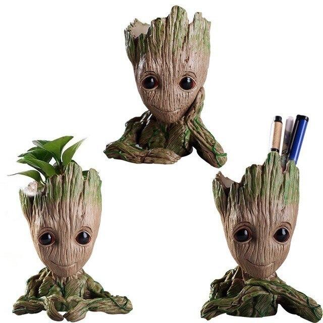 Grut Baby Groot Blumentopf Pflanzer Topf Action-figuren Nette Modell Kawaii Zweig Guardians Schiff Anti-Stress-Baum