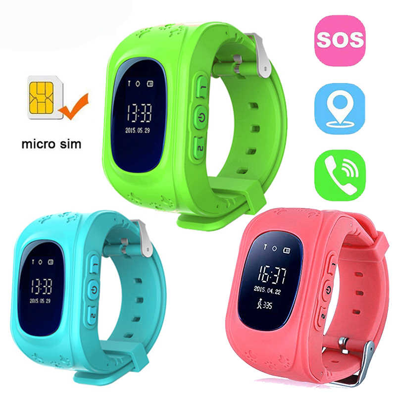Q50 Screen GPS Smart Watch for Kids SOS Call Location Finder Locator Tracker Watch for Children Anti Lost Spanish Smarwatch