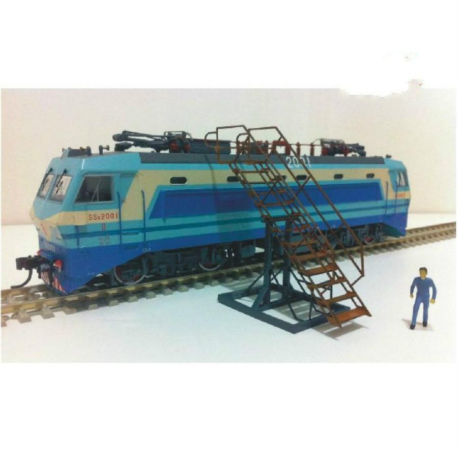 locomotive maintenance ladder for Construction scene sand table architecture Ho train railway passenger station