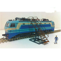 locomotive maintenance ladder for Construction scene sand table architecture Ho train railway passenger station